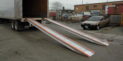 Aluminum twin ramps